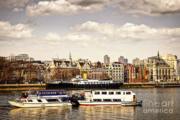 Wall Art - Photograph - London From Thames River by Elena Elisseeva