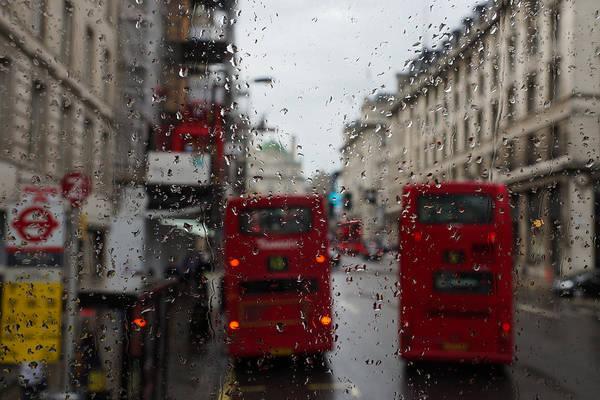 Photograph - London - It's Raining Again But Riding The Double-decker Buses Is Fun by Georgia Mizuleva