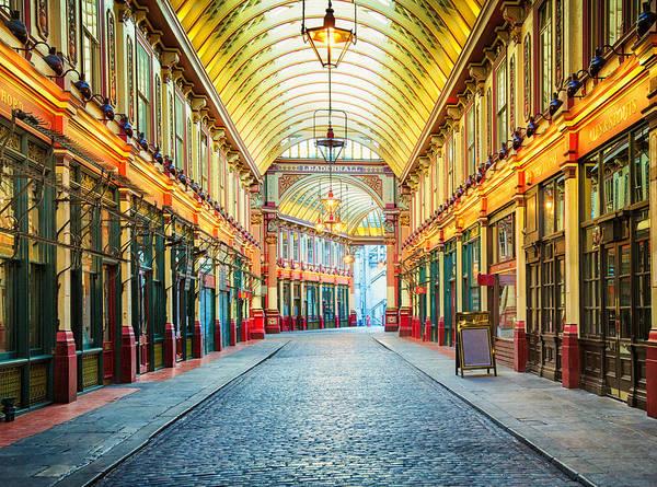 London Leadenhall Hall Market Street Arcade Art Print by NicolasMcComber