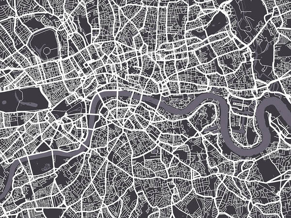 London Map Art Art Print