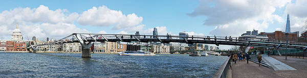 Tate Photograph - London Millennium Footbridge Crossing by Panoramic Images