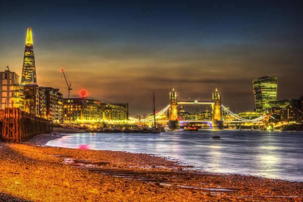 Foreshore Photograph - London Night View by David Pyatt