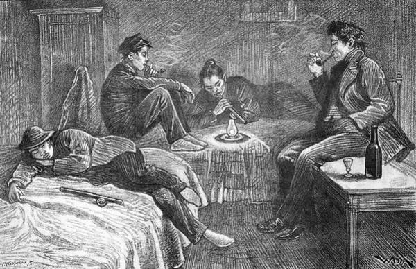 London Opium Den, 1890 Art Print