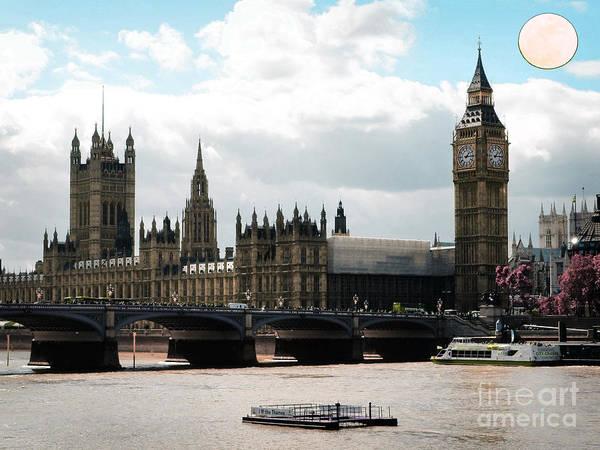 Digital Art - London Parliament Building by Celestial Images