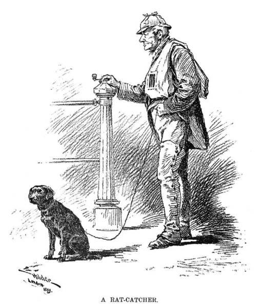 Leash Painting - London Rat Catcher, 1890 by Granger