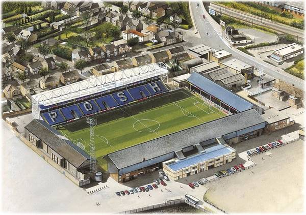 Wall Art - Painting - London Road - Peterborough United by Kevin Fletcher