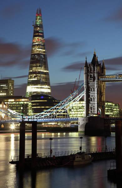 Bridge Bank Photograph - London Shard by David Bank