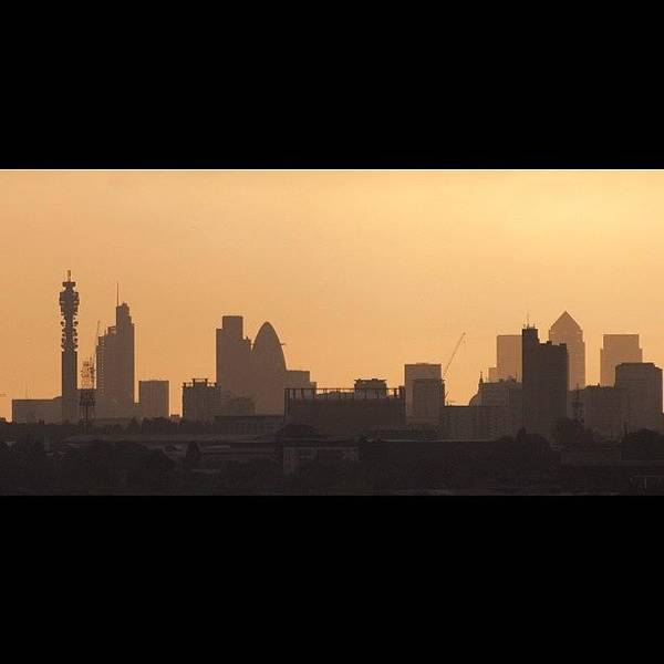 #london #skyline Just After #sunrise In Art Print