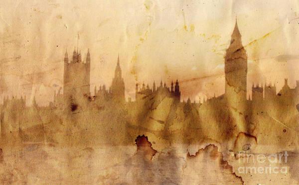 Tourism Wall Art - Painting - London Skyline by Michal Boubin