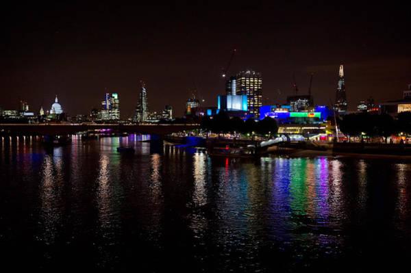 Photograph - London South Bank At Night by Gary Eason