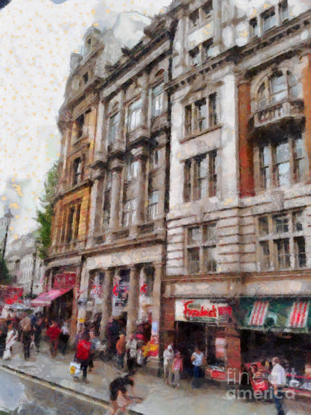 Digital Art - London Street In May by Claire Bull