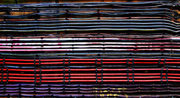 Wall Art - Photograph - London Underground Cables by Mark Rogan