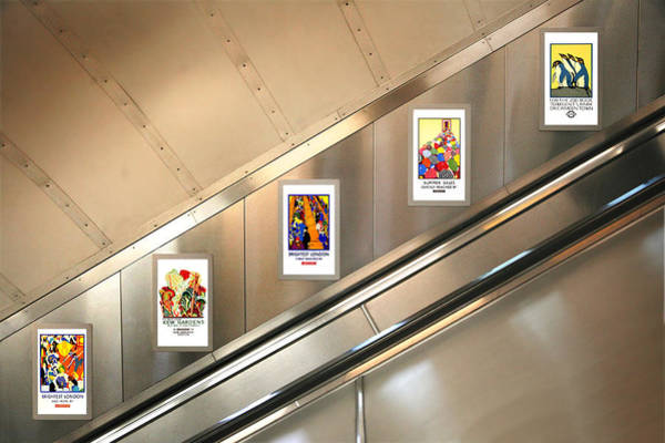 Wall Art - Photograph - London Underground Poster Collection by Mark Rogan