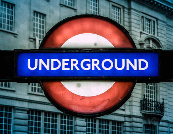 Wall Art - Photograph - London Underground Sign by Mr Doomits