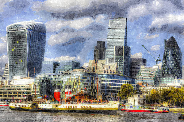 Paddle Digital Art - London View Art by David Pyatt