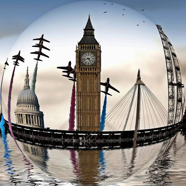 Millenium Photograph - London Will Rise Again Sphere by Sharon Lisa Clarke