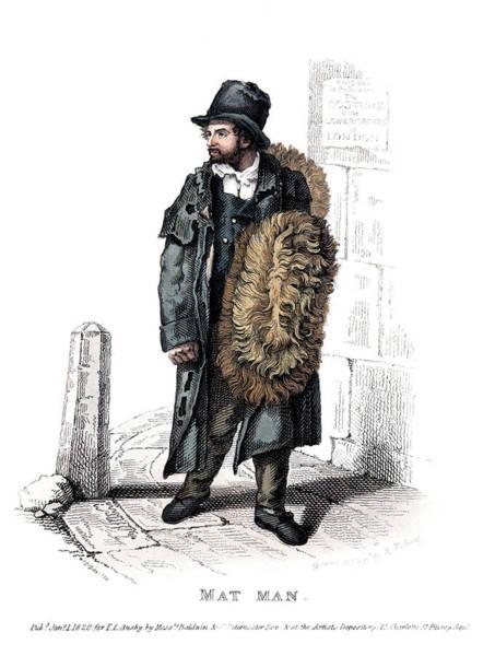 Mat Drawing - London Worker, 1820 by Granger