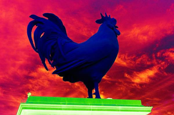 Photograph - London's Blue Rooster  by Richard Henne