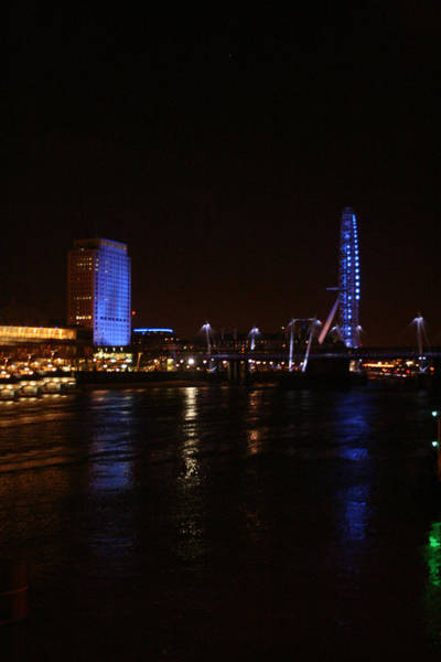 Photograph - London At Night On The River Thames by Doc Braham