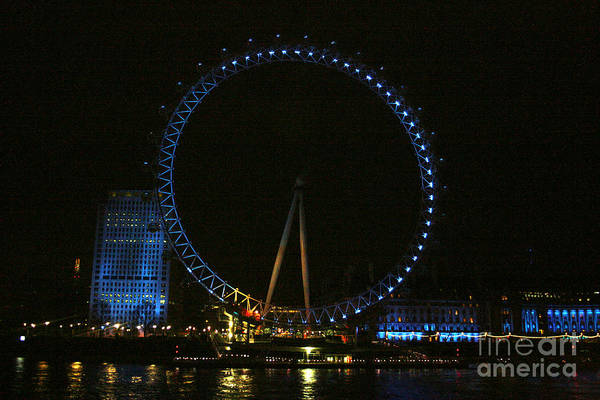 Photograph - Londons Eye On The River Thames by Doc Braham