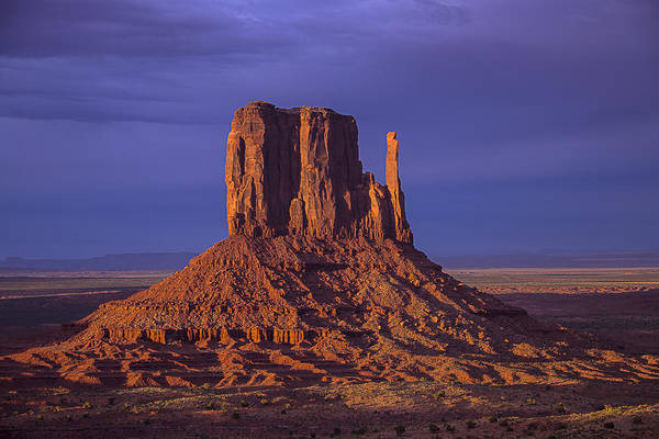 Navajo Indian Reservation Photograph - Lone Butte by Garry Gay