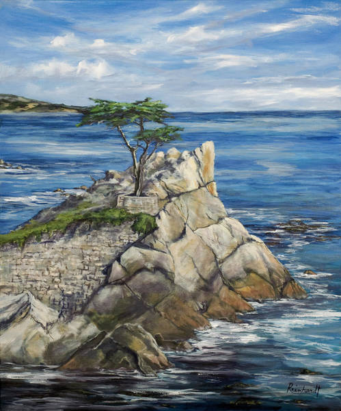 Monterey Wall Art - Painting - Lone Cypress A Portrait by Lisa Reinhardt