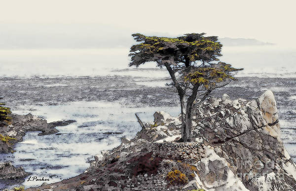 Monterey Cypress Photograph - Lone Cypress Of Monterey by Linda  Parker