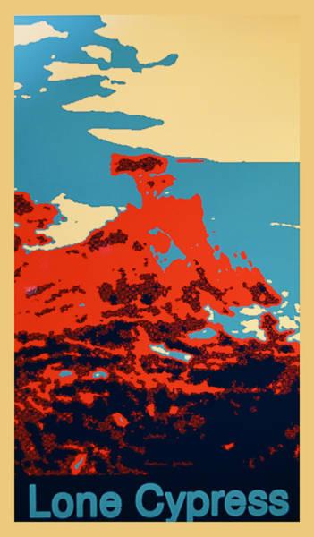 Cypress Digital Art - Lone Cypress Poster by Barbara Snyder