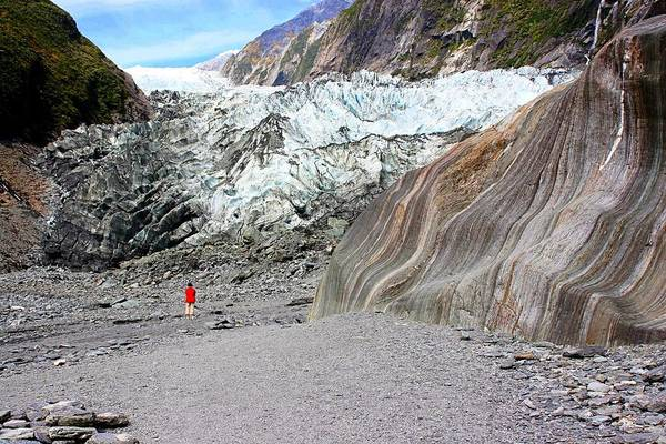 Photograph - Lone Figure At Franz Joseph Glacier by David Rich