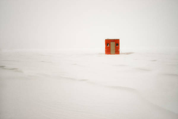 Photograph - Lone Ice Shanty by Darylann Leonard Photography