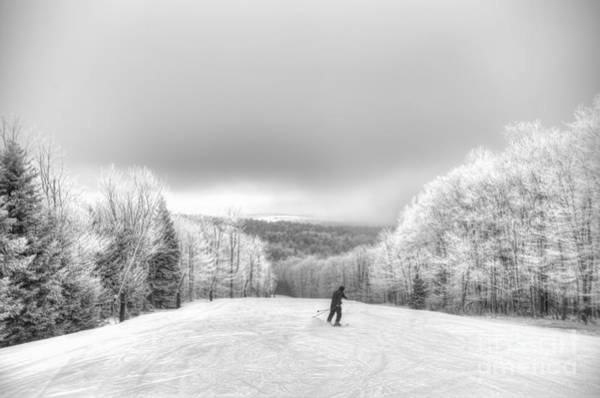 Photograph - Lone Skier On Mountain by Dan Friend
