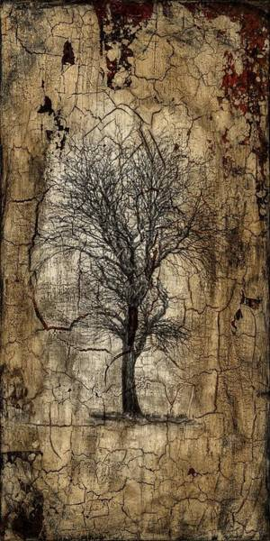 Transfer Mixed Media - Lone Tree by Stacy Tonozzi