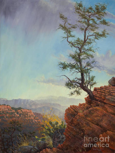 Painting - Lone Tree Struggle by Rob Corsetti
