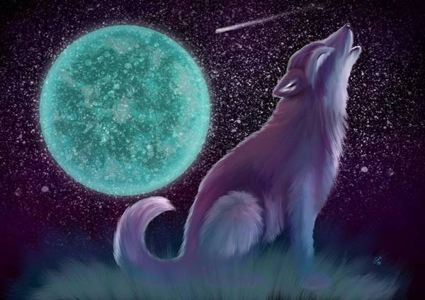 Lone Star Painting - Lone Wolf Howling 2 by Nick Gustafson