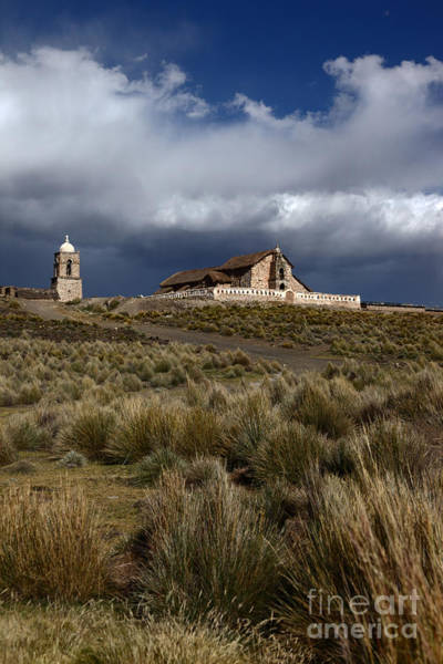 Wall Art - Photograph - Lonely Altiplano Church by James Brunker