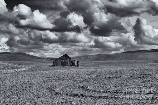 Barn Storm Wall Art - Photograph - Lonely Barn On The Prairie by Mike Dawson