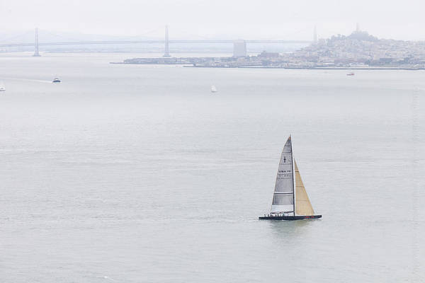 Photograph - Lonely Boat In San Francisco Bay by Alexander Fedin