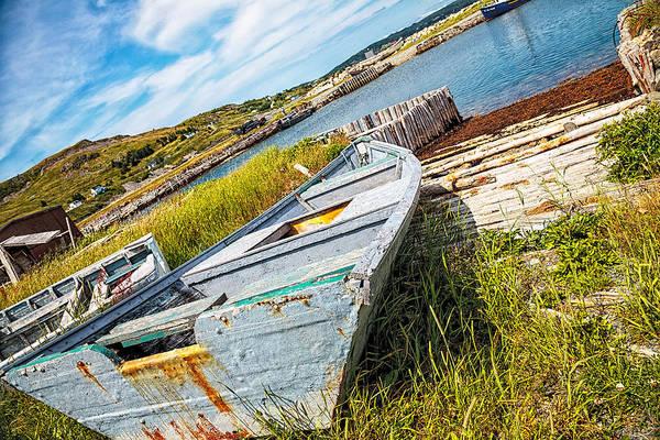 Photograph - Lonely Boat by Perla Copernik