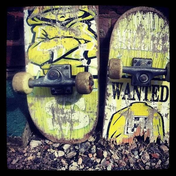 Wall Art - Photograph - Lonely, Broken Skateboard :( #sad by Patrick Oliver