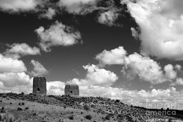 Photograph - Lonely Burial Towers by James Brunker