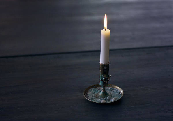 Photograph - Lonely Candle by Dreamland Media