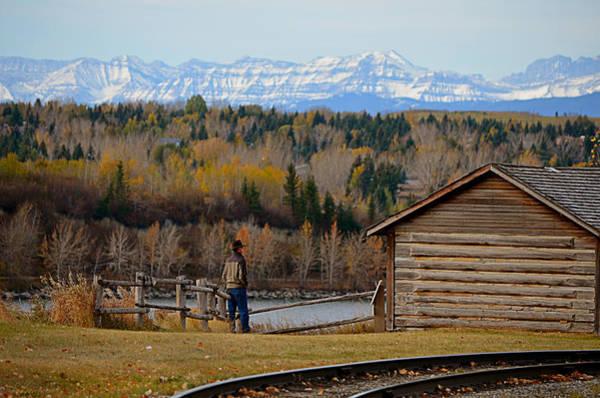 Rockies Digital Art - Miner's Cabin by Maria Angelica Maira