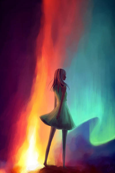 Kannan Painting - Lonely Girl by Sadhana Kannan