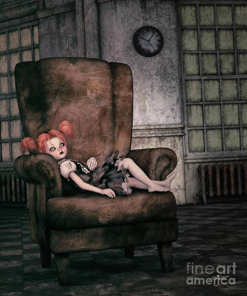 Digital Art - Lonely Gothic Doll by Jutta Maria Pusl