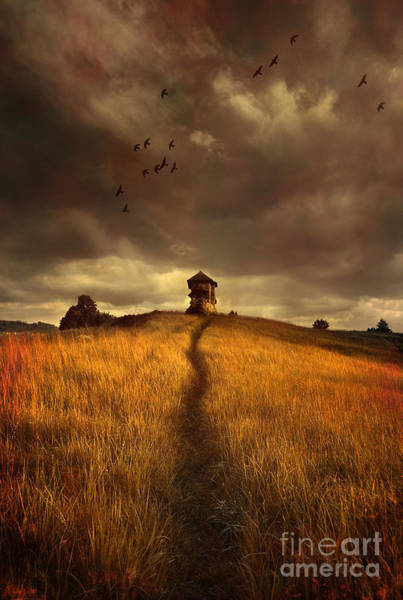 Photograph - Lonely House On The Hill by Jaroslaw Blaminsky
