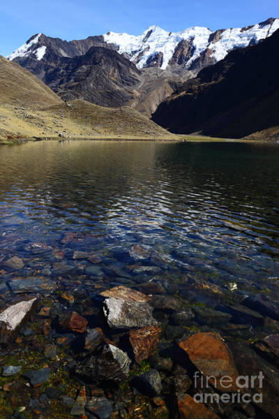 Photograph - Lonely Lake In The Cordillera Apolobamba by James Brunker