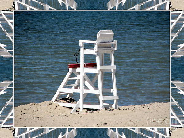 Photograph - Lonely Lifeguard Station At The End Of Summer by Rose Santuci-Sofranko