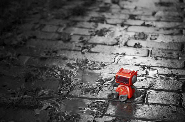 Selective Color Photograph - Lonely Little Robot by Scott Norris