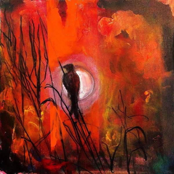 Painting - Lonely Raven II by Dilip Sheth