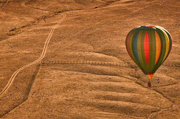 Air Balloon Wall Art - Photograph - Lonesome Road by Keith Berr